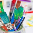 Paint Brushes in a Jar — Stock Photo #39435261