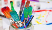 Paint Brushes in a Jar — Stock Photo