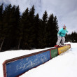 Snowboard, freestyle, — Stock Photo