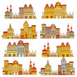Vector illustration of houses — Stock Vector