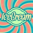 Retro Ice Cream Template — Imagen vectorial