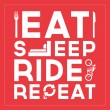 Stock Vector: Eat Sleep Ride Repeat