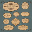 Vintage Label Style Frame Collection  — Stock Vector