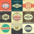 Collection of Retro Gasoline Signs — Imagens vectoriais em stock