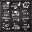 Collection Of Typographic Halloween Design — Stock Vector