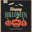 Happy Halloween Sign With Pumpkins — Imagens vectoriais em stock