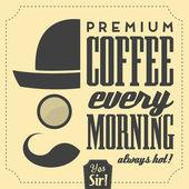 Retro Typographic Beverage Background — Stock Vector