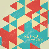 Retro Colorful Abstract Geometric Vintage Background — Stockvektor