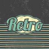 Retro Template Design - Vintage Background — ストックベクタ