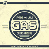 Vintage Gasoline Sign - Retro Template — ストックベクタ