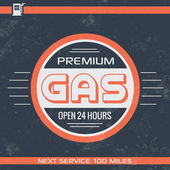 Vintage Gasoline Sign - Retro Template — Stock Vector