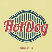 Retro Food Sign - Vintage Template - Hot Dog — Stock Vector