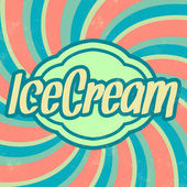 Retro Ice Cream Template — Stock Vector