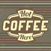 复古咖啡复古背景 — 图库矢量图片