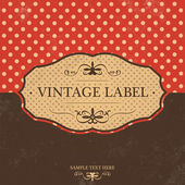 Vintage Label Design with Retro Background — Stockvektor