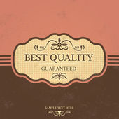 Vintage Label Design with Retro Background — Vetorial Stock