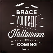 Halloween Typographic Template — Stockvektor