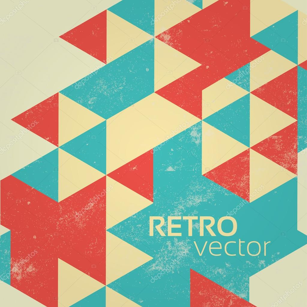 Retro Colorful Abstract Geometric Vintage Background