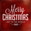 Christmas Typographic Background - Merry Christmas - Joy To The World — Stock Photo #34957413