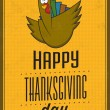 Happy Thanksgiving Day - Vintage Typographic Poster With Retro Background — Stock Photo #34957459