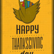 Happy Thanksgiving Day - Vintage Typographic Poster With Retro Background — Stock Photo