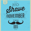 Vintage Template - Retro Design - Quote Typographic Background - No Shave November — Stock Photo