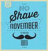 Vintage Template - Retro Design - Quote Typographic Background - No Shave November — Stock Photo