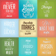 Vintage Typographic Backgrounds — Vector de stock