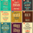 Vintage Typographic Backgrounds — Imagen vectorial