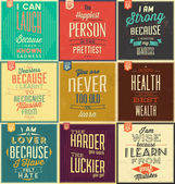Vintage Typographic Backgrounds — Stock Vector