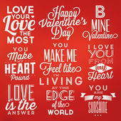 Valentine's Day Posters — Stock Vector
