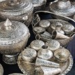 Group of Silverware Thai Style — Stock Photo