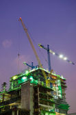 Working Construction Site in the Night Time — Stock Photo