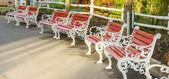 Iron park benches — Foto de Stock
