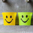 Stock Photo: Colorful smiley cups