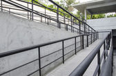 Using wheelchair ramp(Barrier-free access) — Stock Photo