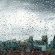 Rain on The Windows — Stock Photo