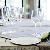 Decorated table — Stock Photo