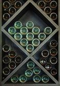 Wines on Wine Rack — Stock Photo