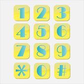 Botones numéricos — Vector de stock
