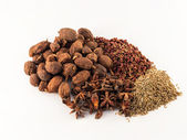 Chinese spices on the white background — Foto de Stock