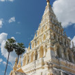Stock Photo: White Pagoda with blue sky