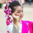 Buddhist girl dance — Stock Photo