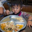 Thailand poor children have lunch — Stock Photo