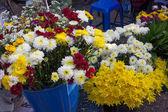 Květiny shop na místním trhu thajsko — Stock fotografie