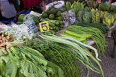 在当地的食品市场上的泰国蔬菜 — 图库照片