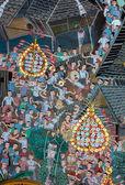 Mural represent thai dance — Stock Photo