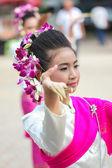 Buddhist girl dance — Stock Photo