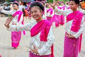 Smile of thai dancing girl — Stock Photo