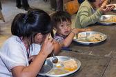 Lunch of poor children in thailand — Stock Photo